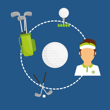 golf ball: Sports digital design, vector illustration eps 10.