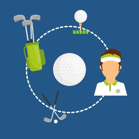 play golf: Sports digital design, vector illustration eps 10.