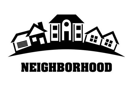 residential neighborhood: Home digital design, vector illustration eps 10. Illustration