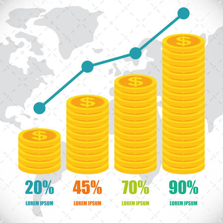 Money infographics design Stock Illustratie