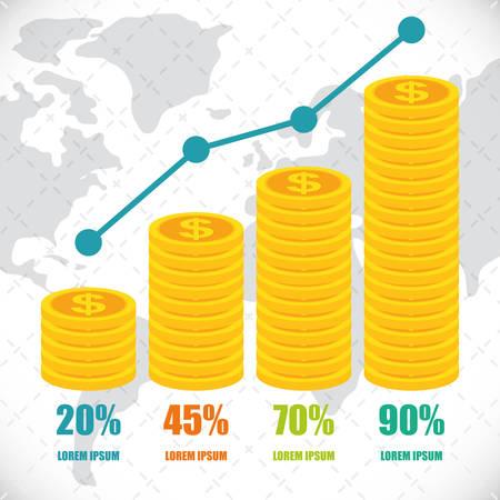 creative finance: Money infographics design Illustration