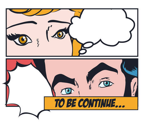 pop eye: Pop art design, vector illustration eps 10. Illustration