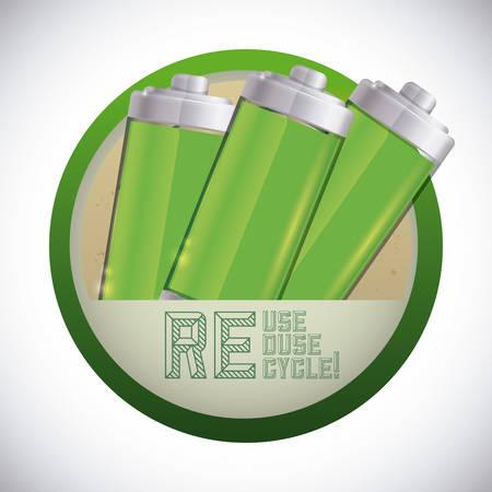 voltmeter: Recycle battery design, vector illustration eps 10. Illustration