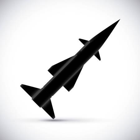 rocket bomb: Rocket digital design, vector illustration eps 10.