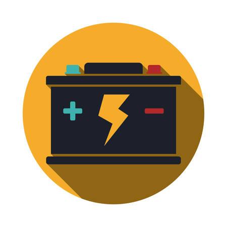 voltmeter: Battery energy design, vector illustration eps 10. Illustration