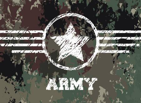 Military camouflage design, vector illustration eps 10. Illustration