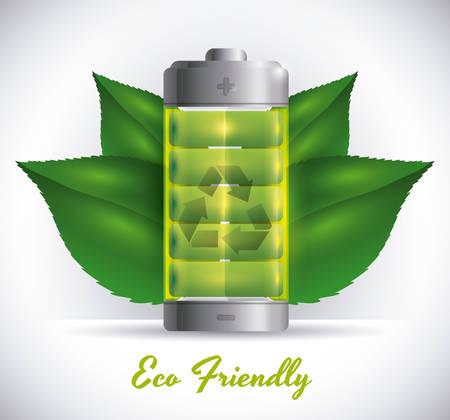 energetics: Recycle battery design, vector illustration eps 10. Illustration