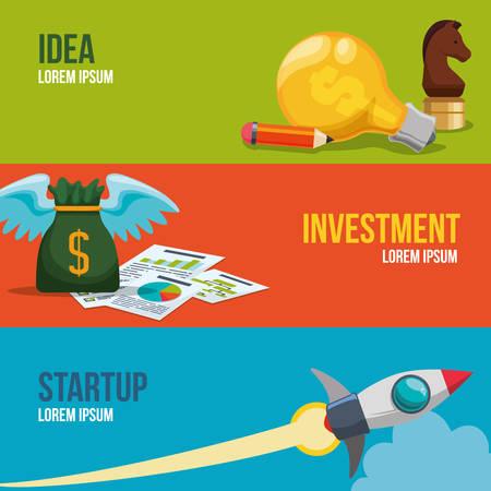 Business start up design, vector illustration eps 10. Ilustração