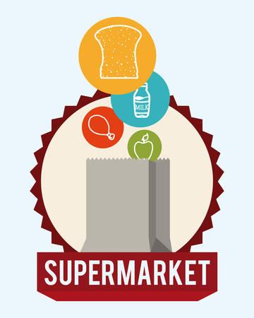increase fruit: Supermarket store design, vector illustration eps 10.
