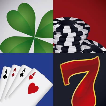 token: Casino game design, vector illustration eps 10.