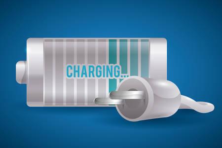 watt: Battery energy design, vector illustration eps 10. Illustration