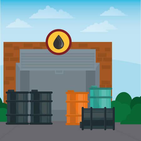 refuel: Gas Station digital design, vector illustration 10 eps graphic Illustration