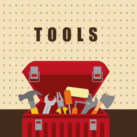box design: Tools on box design,  vector illustration