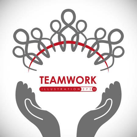 unity: Teamwork digital design, vector illustration 10 eps graphic Illustration
