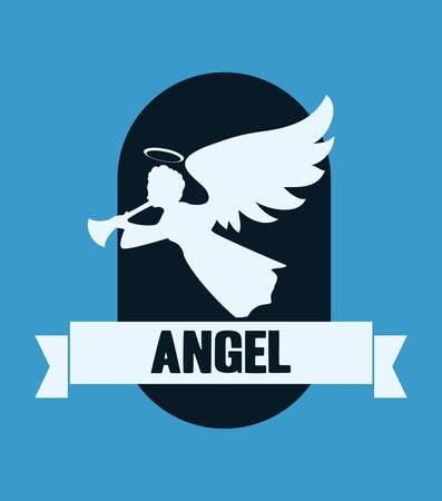 ange gardien: Conception num�rique Angel, illustration vectorielle 10 eps graphique