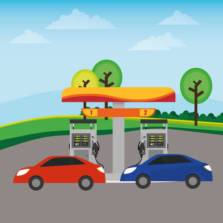 fueling pump: Gas Station digital design, vector illustration 10 eps graphic Illustration