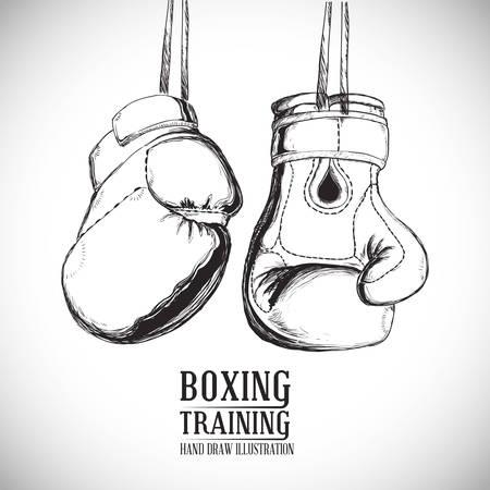 boxing knockout: Boxing digital design, vector illustration 10 eps graphic
