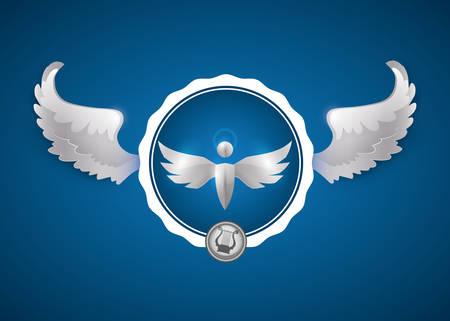 Angel digital design, vector illustration 10 eps graphic