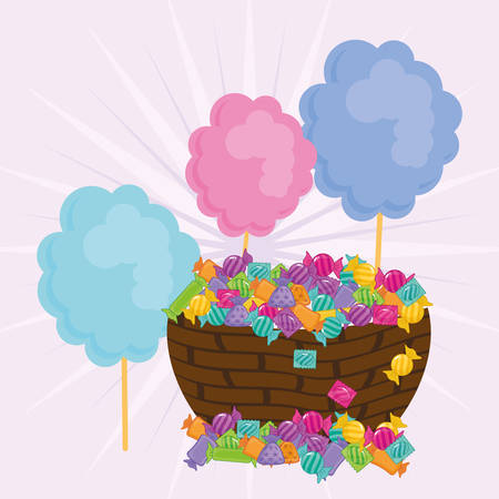Candy digital design, vector illustration 10 eps graphic