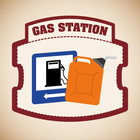 refueling: Gas Station digital design, vector illustration 10 eps graphic Illustration