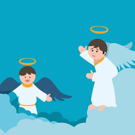 religion catolica: Diseño digital Ángel, ilustración vectorial eps 10 gráfico