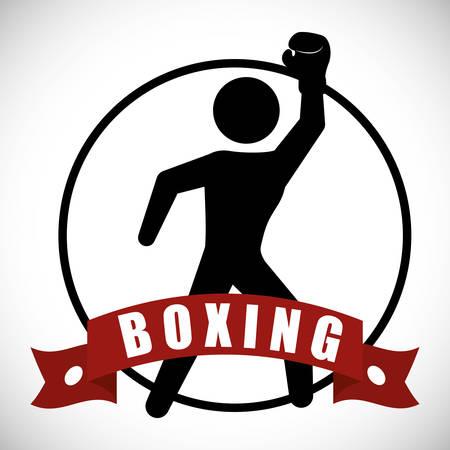 Boxing digital design, vector illustration 10 eps graphic