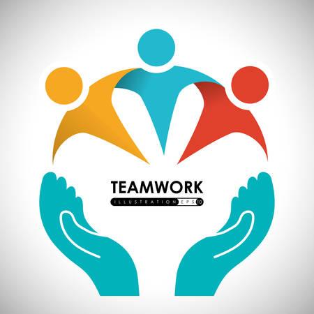 teamwork people: Teamwork digital design, vector illustration 10 eps graphic Illustration