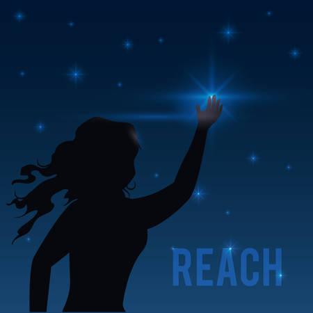 upwards: Reach digital design, vector illustration eps 10. Illustration