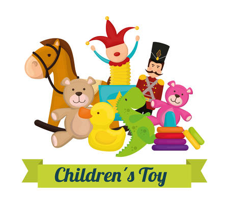 Baby toys design, vector illustration eps 10.  イラスト・ベクター素材