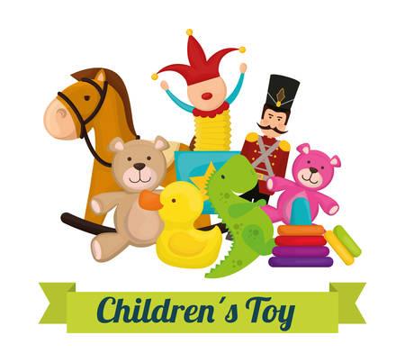 아기 장난감 디자인, 벡터 일러스트 레이 션 (10)를 주당 순이익.
