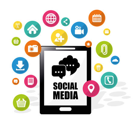 electronic organizer: Social media design, vector illustration eps 10.