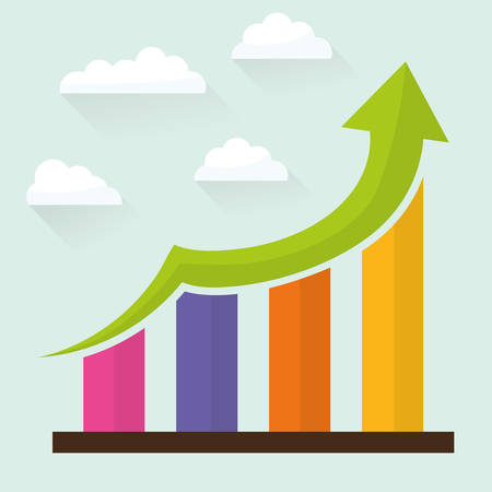 business performance: Financial growth design, vector illustration eps 10.