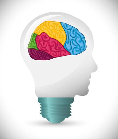 mentality: Human brain design, vector illustration eps 10.
