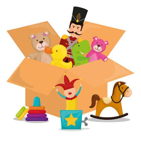 juguetes: Diseño de juguetes de bebé, ilustración vectorial eps 10.