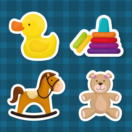 baby toys: Baby toys design, vector illustration eps 10. Illustration