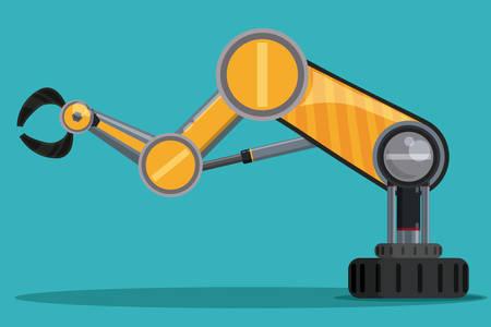 robot: Robot cyfrowego projektowania, ilustracji wektorowych EPS 10.
