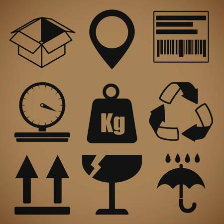 box design: Delivery box design, vector illustration eps 10.