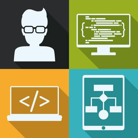 developer: Web developer design, vector illustration eps 10. Illustration