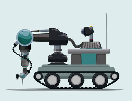 Robot digital design, vector illustration eps 10.