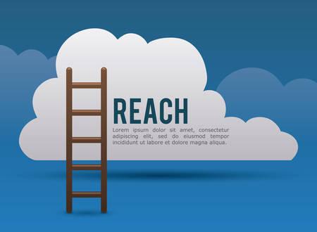 stairway to heaven: Reach digital design, vector illustration eps 10. Illustration
