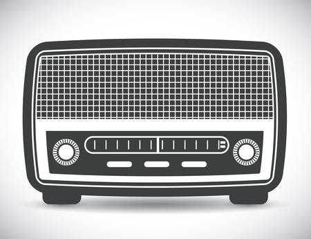 radio frequency: Radio vintage design, vector illustration eps 10. Illustration