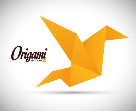 digital illustration: Origami digital design, vector illustration eps 10.
