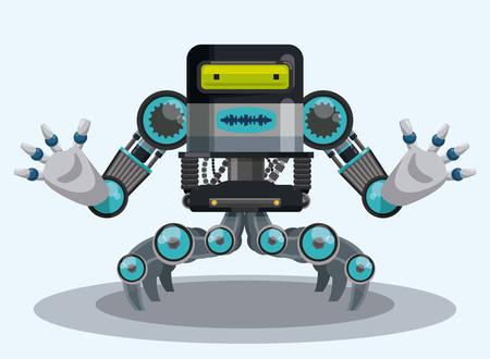 factory automation: Robot digital design, vector illustration eps 10.