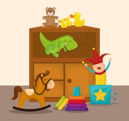 baby toy: Baby toys design, vector illustration eps 10. Illustration