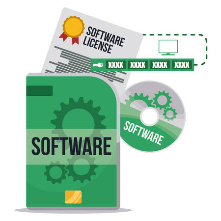 software box: Software digital design, vector illustration eps 10.