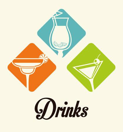 cocktails: Drinks digital design, vector illustration eps 10.