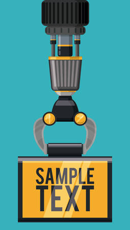 machine operator: Robot digital design, vector illustration eps 10.