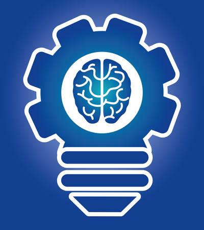 brain illustration: Human brain design, vector illustration eps 10.