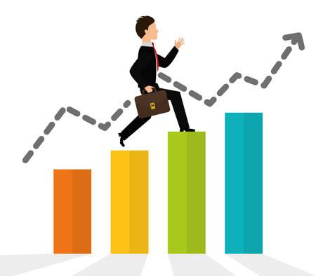 Financial growth design, vector illustration eps 10.