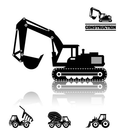 industrial danger: Construction machinary design, vector illustration eps 10.